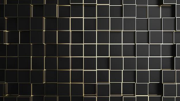 Trama di sfondo bordo nero e oro.