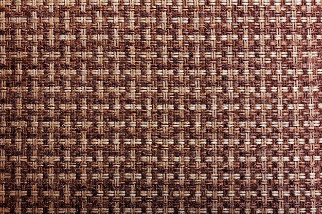 Trama di sfondo di filo di canapa intrecciata due colori