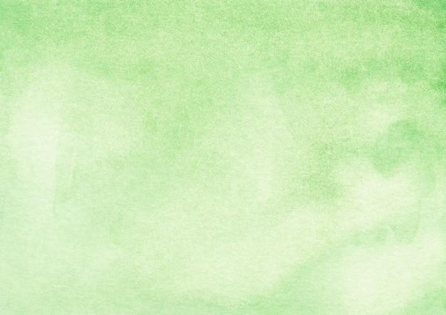 Trama di sfondo verde chiaro dell'acquerello