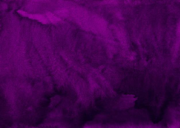 Trama di sfondo viola profondo acquerello