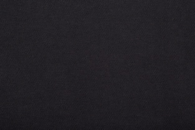Trama di stoffa tessuto nero.
