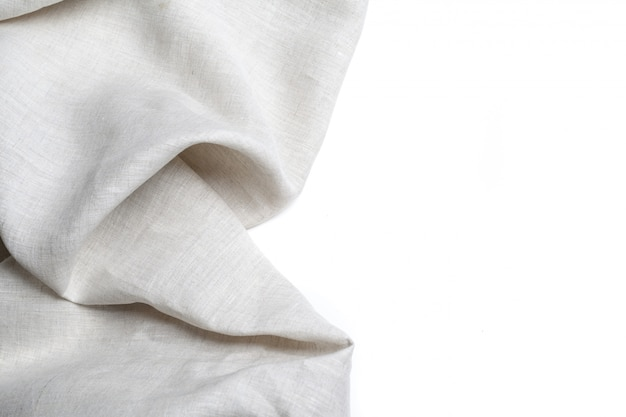 Trama di tela di lino bianco