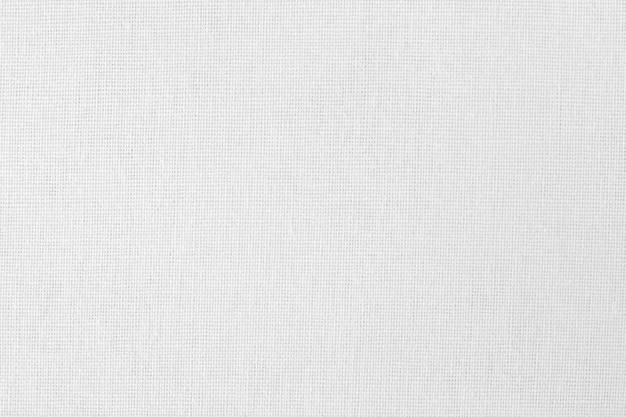 Trama di tessuto di cotone bianco, modello senza cuciture di tessuto naturale.