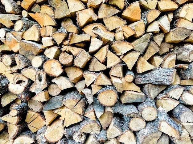 Trama di tronchi di legno