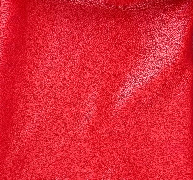 Trama di vacchetta rosso brillante naturale, full frame, colore scarlatto