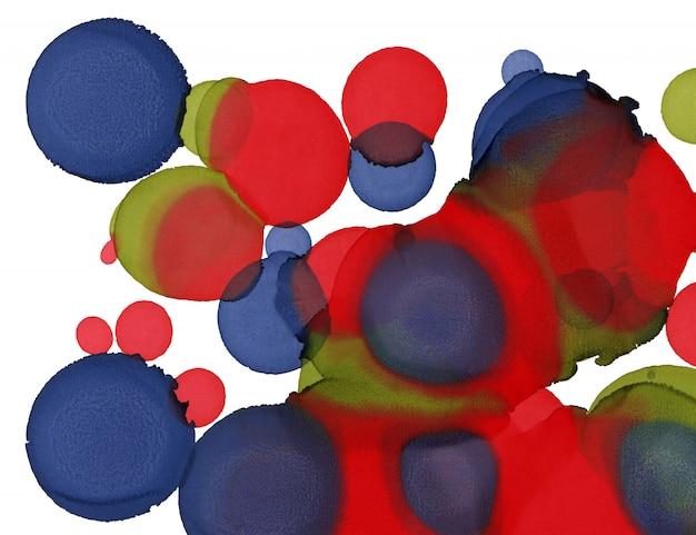 Trama di vernice a mano. cerchi astratti forme di sfondo. pittura astratta di alcol. arte moderna contemporanea