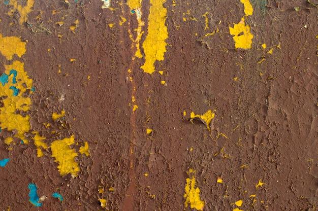 Trama di vernice squallido su ferro