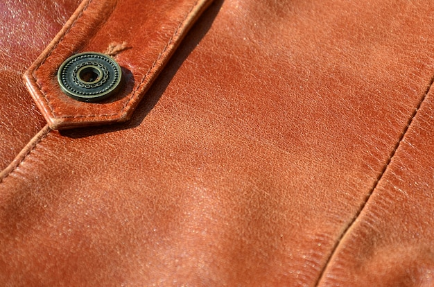 Trama in pelle marrone. utile come sfondo per qualsiasi lavoro di progettazione.