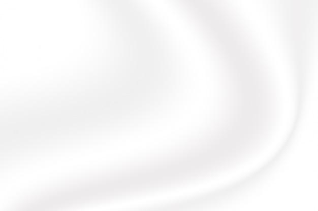 Trama sfumata di colore bianco sfumato increspato come sfondo decorativo onda liscia astratta