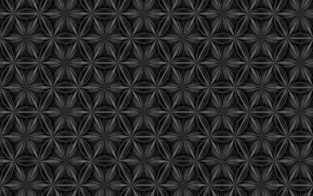 Trama tridimensionale di complessi elementi geometrici intrecciati tra loro