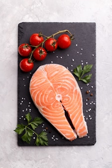 Trancio di salmone pesce rosso