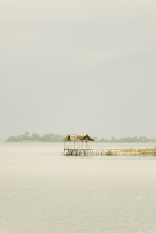 Tranquilla scena di un lago