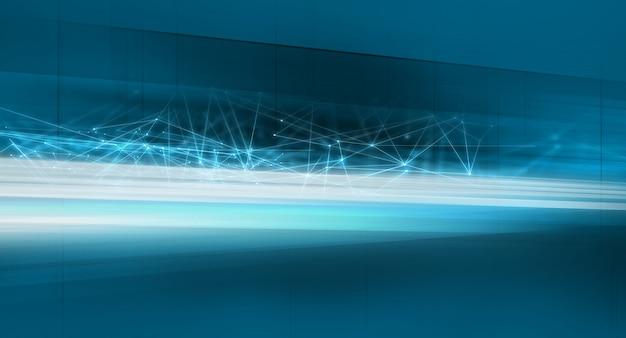 Trasferimento dati con sfondo linee di connessione
