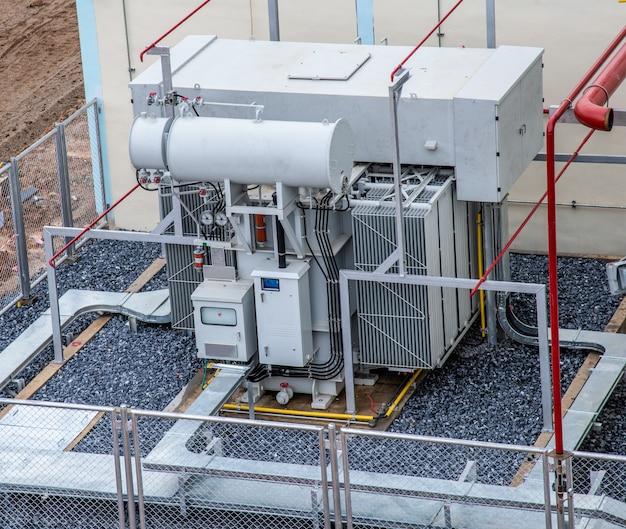 Trasformatore ad alta tensione e sistema antincendio nella centrale elettrica