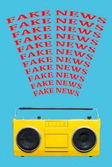Trasmissione radio di notizie false