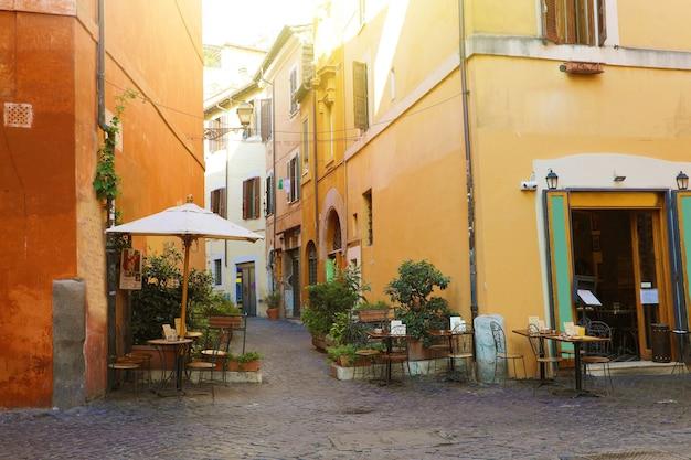 Trastevere a roma, italia