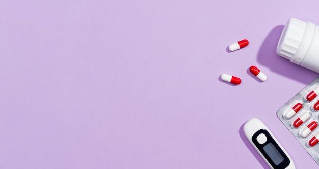 Trattamento di pillole copia-spazio