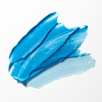 Tratto di pennello di diverse tonalità blu