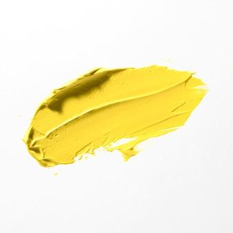Tratto di pennello giallo astratto