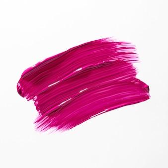 Tratto di pennello rosa con su sfondo