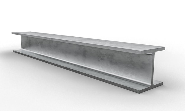 Trave metallica d'acciaio 3d
