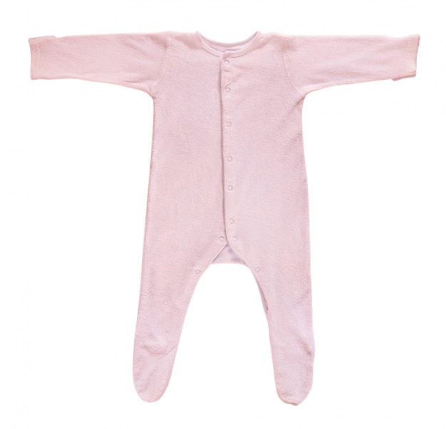 Traversina rosa del bambino isolata su bianco