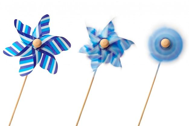 Tre girandole blu