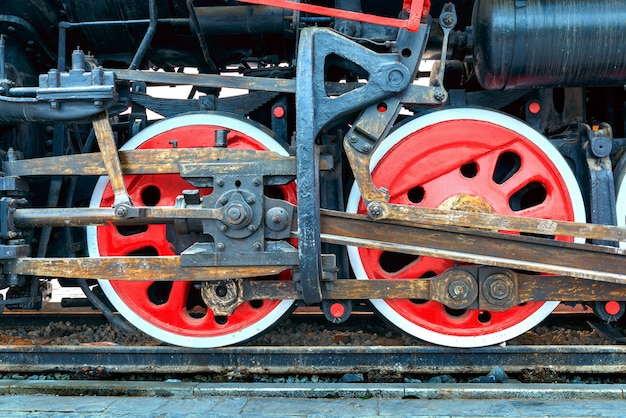 Treno a vapore, ruote.