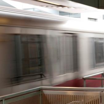 Treno della metropolitana a boston, massachusetts, usa