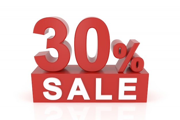 Trenta per cento di vendita