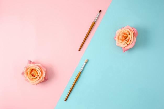 Trucco pennelli colorati
