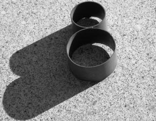 Tubi di metallo circolare