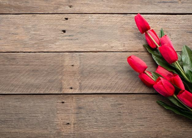 Tulipani rossi giorno di pasqua o primavera