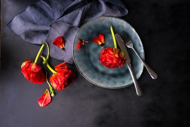 Tulipano rosso principessa