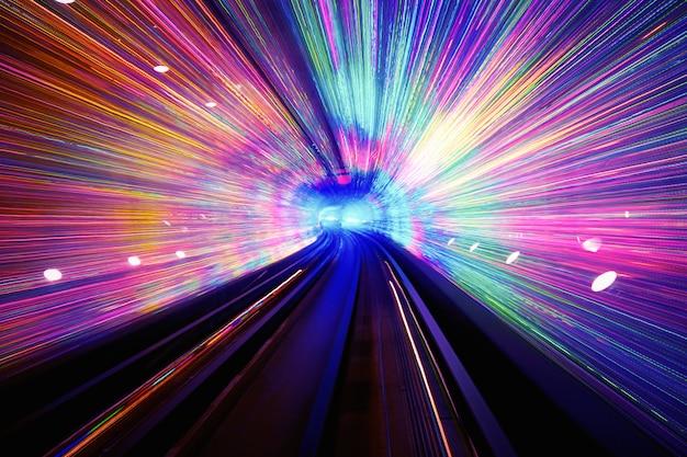 Tunnel di luce di sfondo
