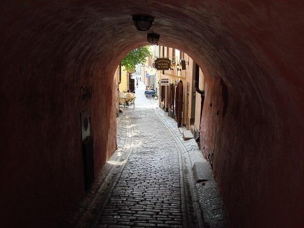 Tunnel svezia street scene stockhom grotta