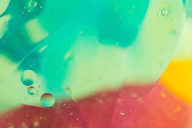 Turchese; sfondo texture rosso e giallo con bolla