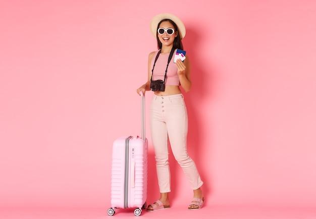 Turismo, vacanze estive, concetto di vacanze all'estero.