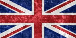 Uk grunge vecchia bandiera