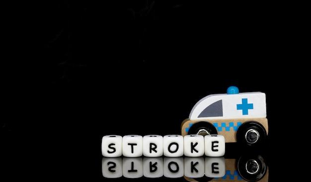 Un'ambulanza giocattolo e una parola ictus