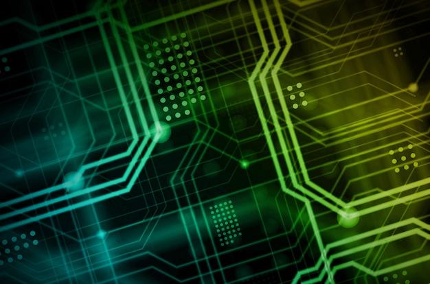 Un background tecnologico astratto composto da una moltitudine di linee guida luminose