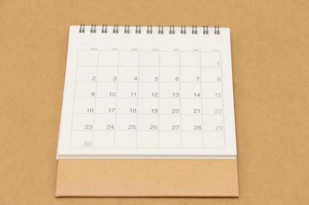 Un calendario del mese.