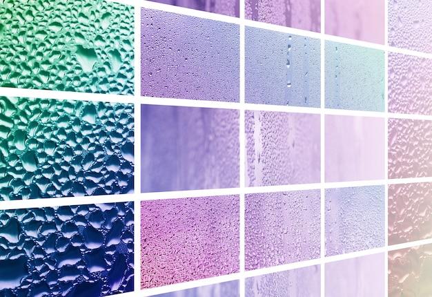 Un collage di molti diversi frammenti di vetro