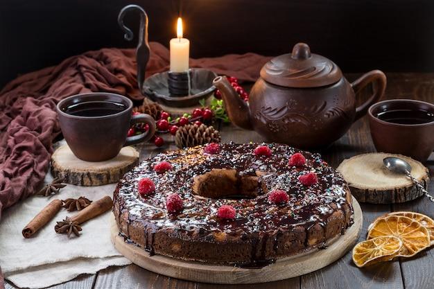 Un'immagine con una torta di cagliata.