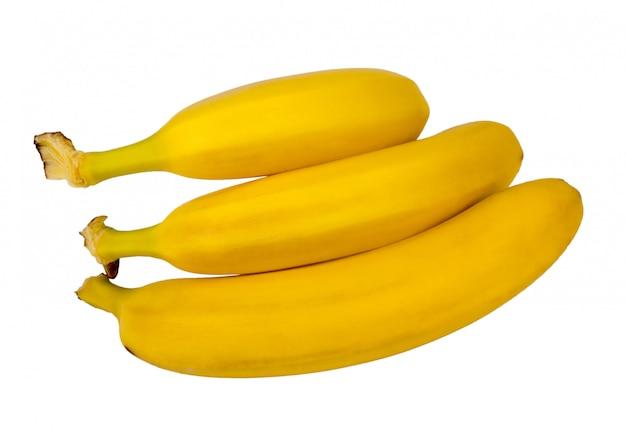 Un mazzo di banane isolato.