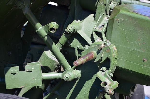 Un meccanismo di close-up di un'arma portatile dell'unione sovietica della seconda guerra mondiale