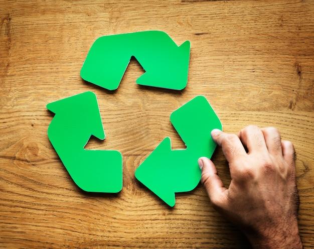 Un simbolo di riciclo verde