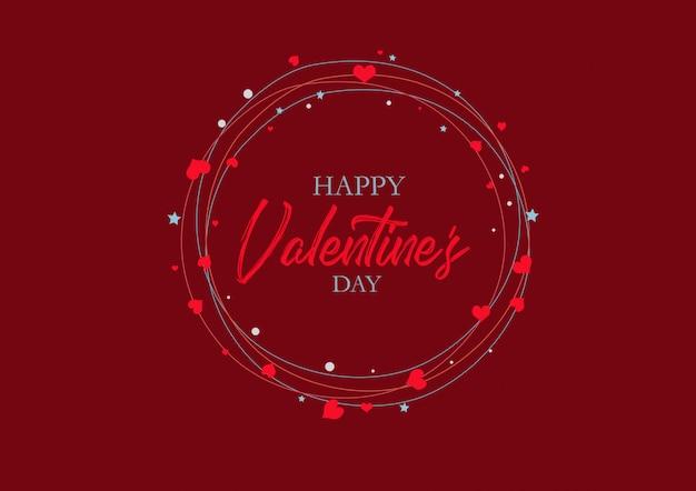 Una bellissima carta per san valentino. un cerchio festivo di cuori. vacanza.