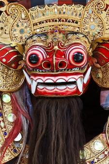 Una maschera barong balinese