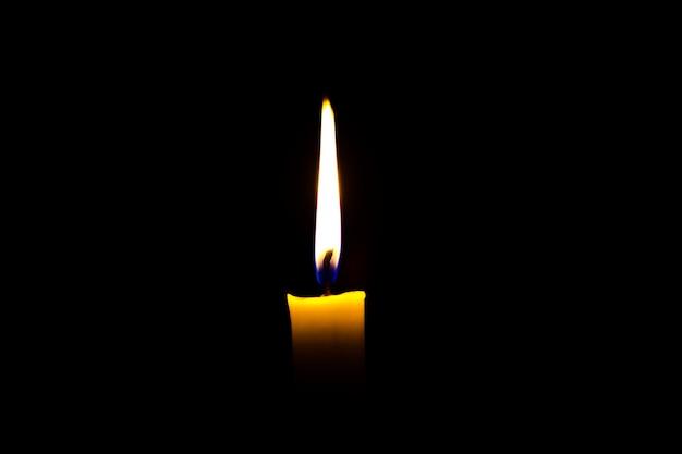 Una storia d'amore romantica candela in memoria